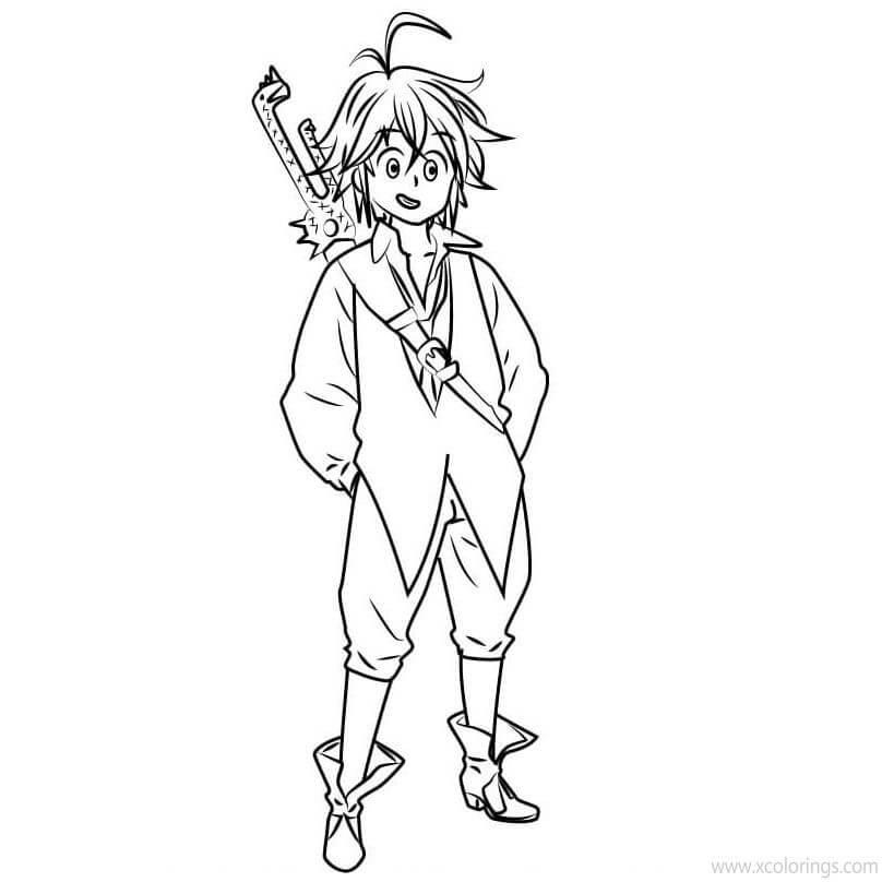 Desenhos de Meliodas Jeitoso para colorir