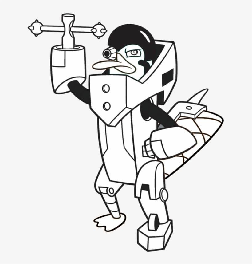 Desenhos de Monstruo Perry para colorir