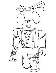 Desenhos de Mulher Ninja Roblox para colorir