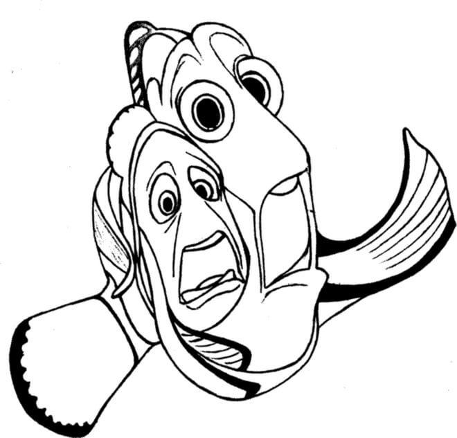 Desenhos de Nemo Assustador para colorir