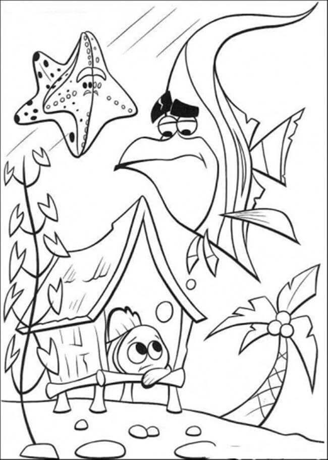 Desenhos de Nemo Em Casa para colorir