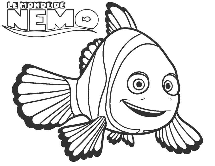 Desenhos de Nemo Fofo para colorir