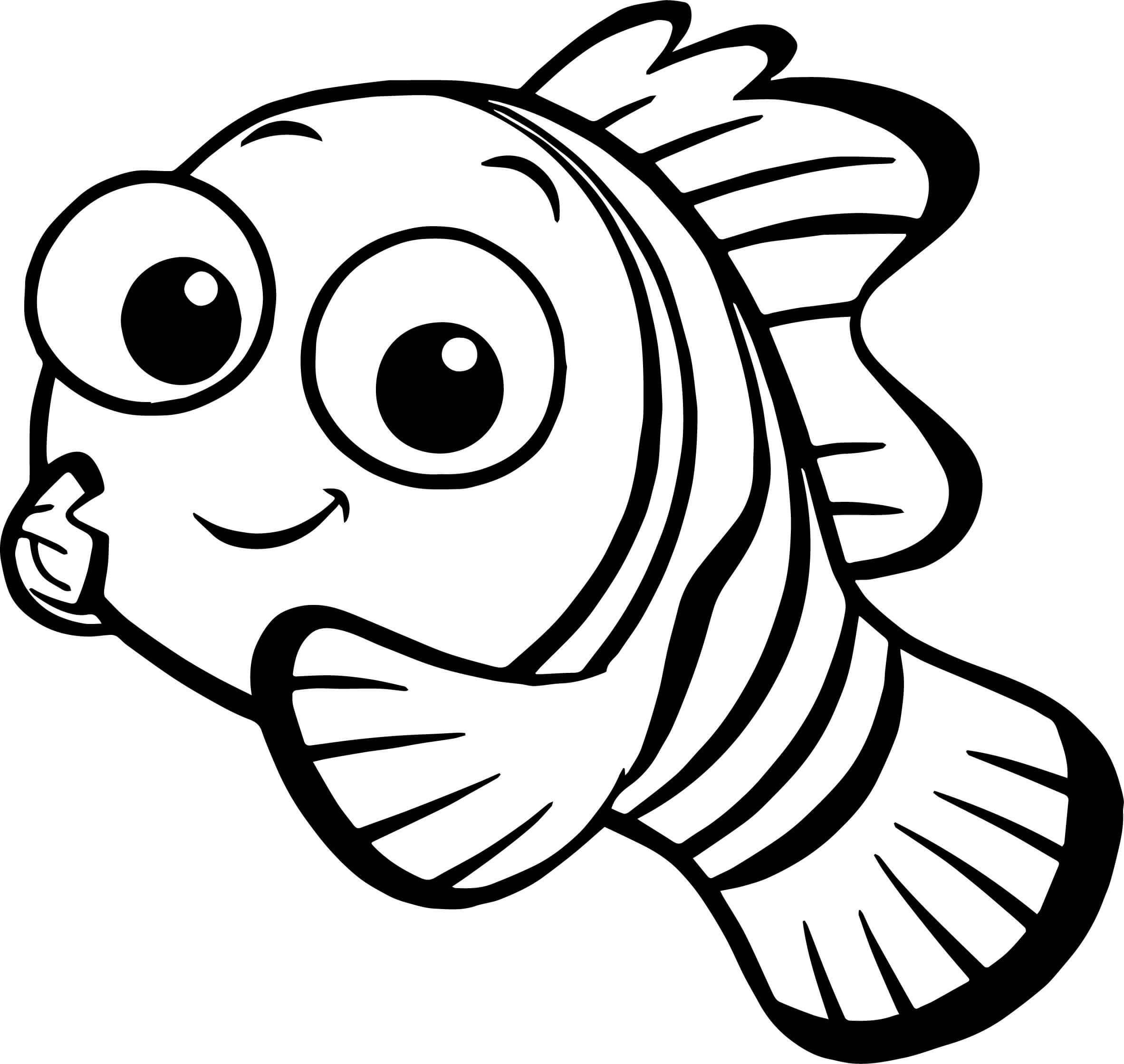 Desenhos de Nemo Sorrindo para colorir