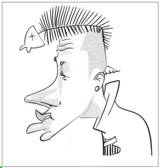 Desenhos de Neymar Desenho Animado Estúpido para colorir