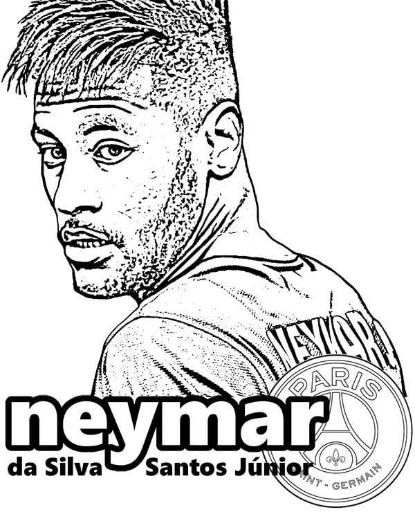 Neymar para Colorir