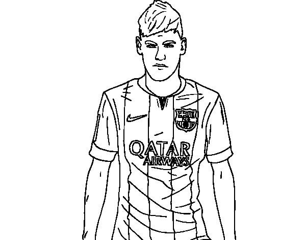 Desenhos de Neymar Zangado para colorir