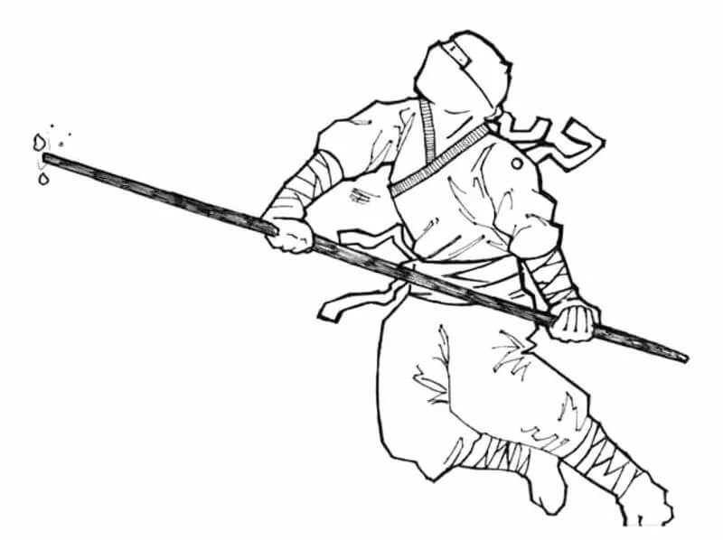 Desenhos de Ninja Cheio para colorir