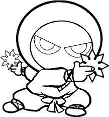 Desenhos de Ninja Fofo para colorir