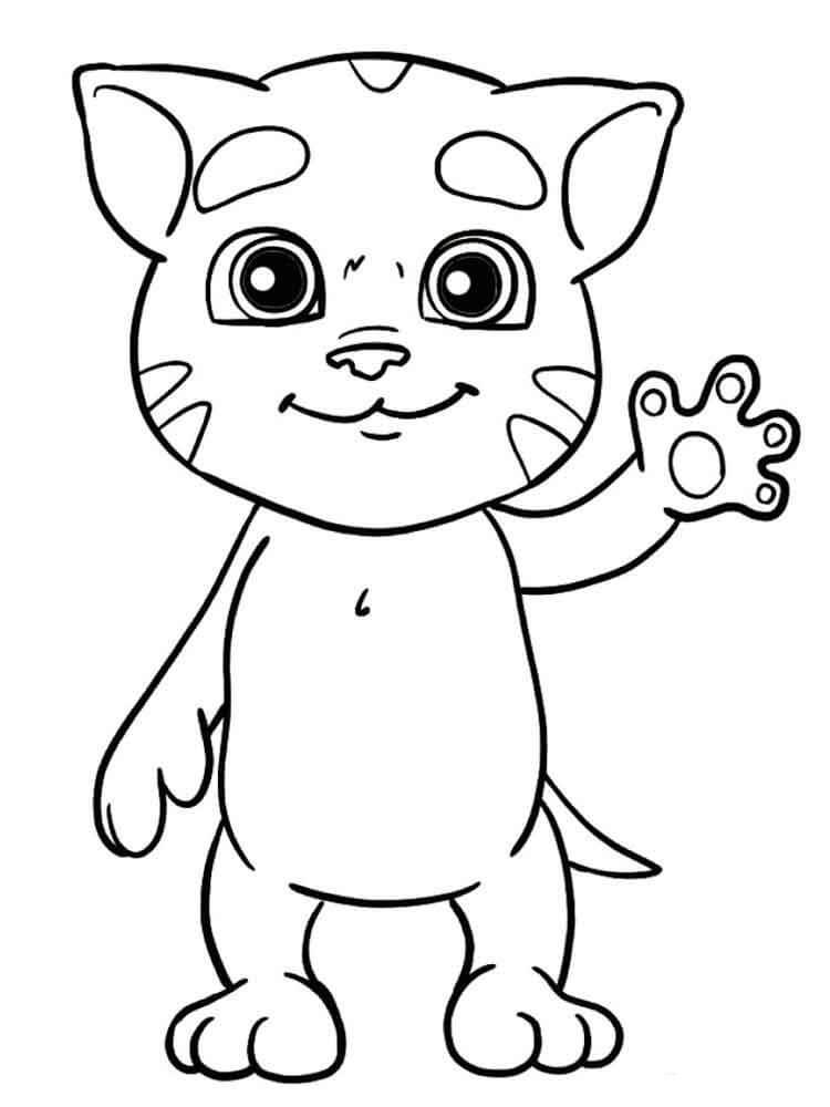 Desenhos de O Bebê Mais Fofo Que Fala O Tom para colorir