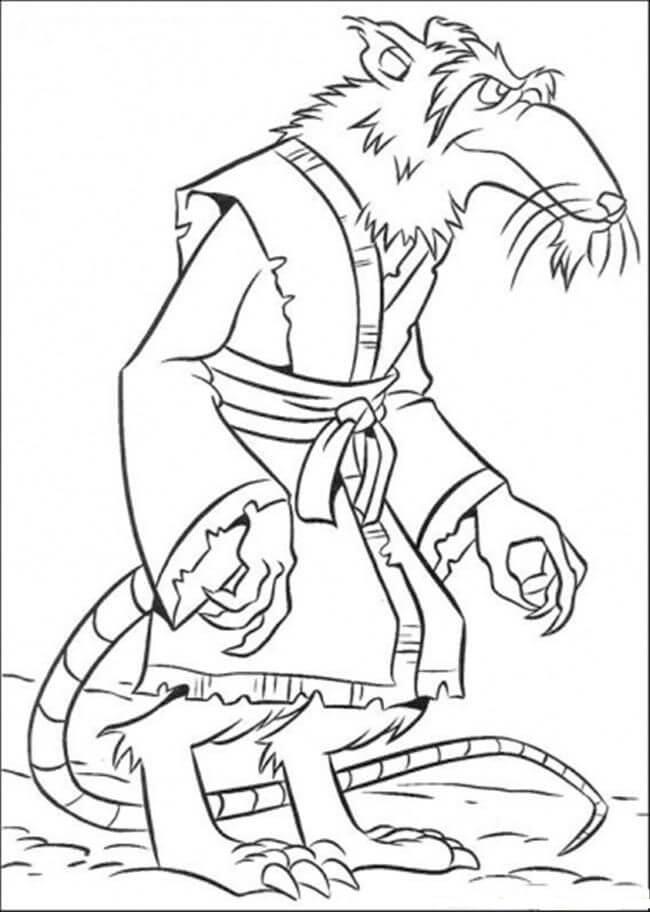 Desenhos de O Pai Das Tartarugas Ninja para colorir