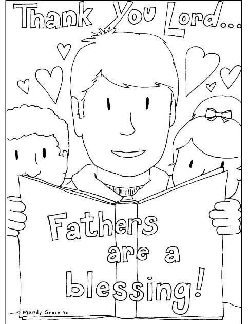 Desenhos de Obrigado Pai para colorir