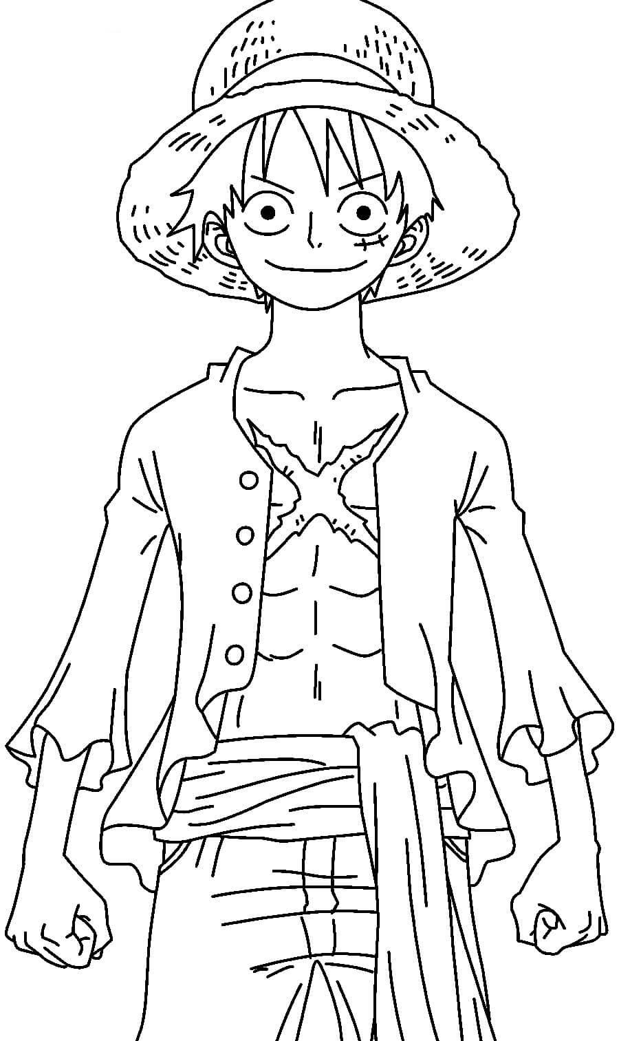 Desenhos de One Piece Luffy Após 2 Anos para colorir