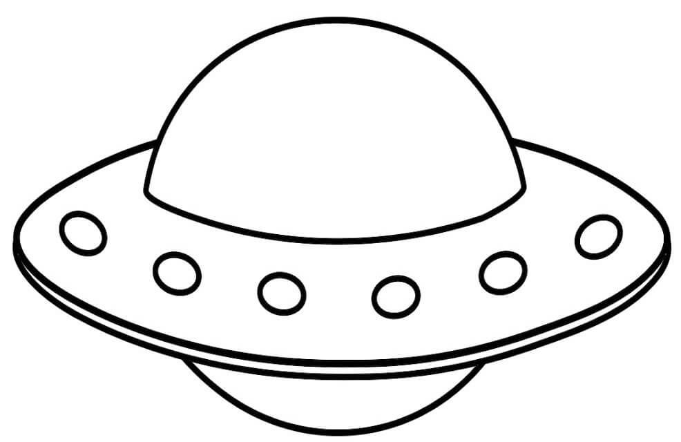 Desenhos de OVNI para colorir