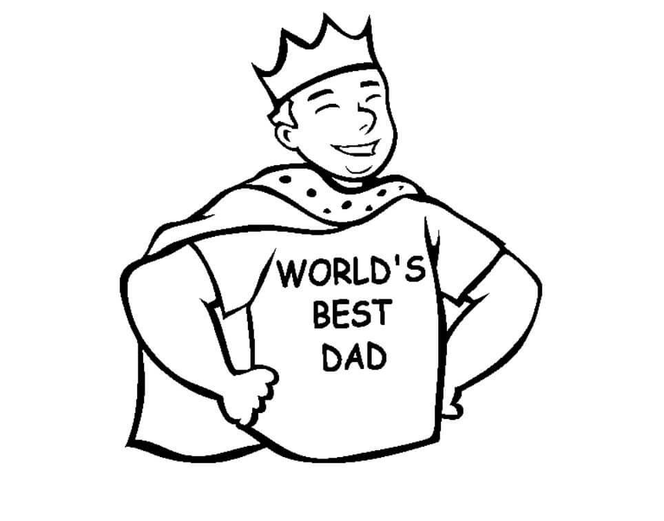 Desenhos de Pai Forte para colorir