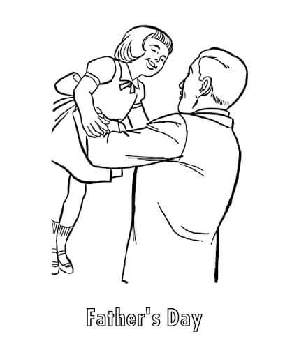 Desenhos de Pai, Posse, Filha para colorir