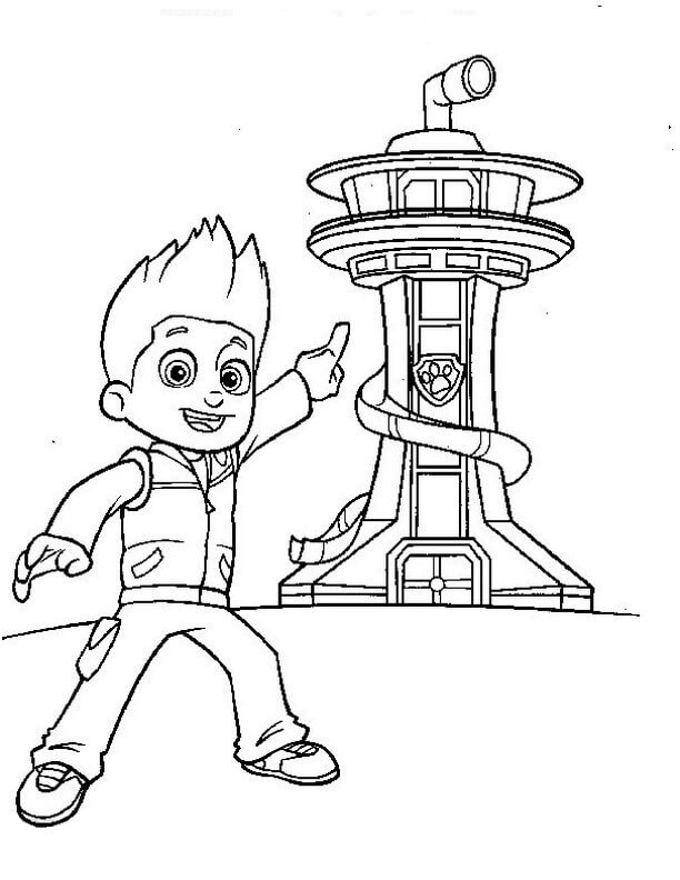 Desenhos de Paw Patrulha Torre De Vigia para colorir