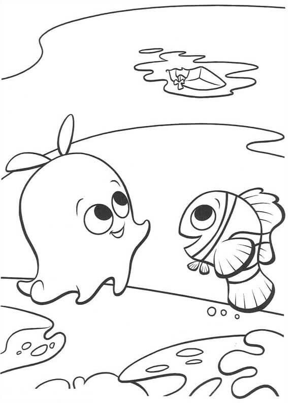 Desenhos de Pérola E Nemo para colorir