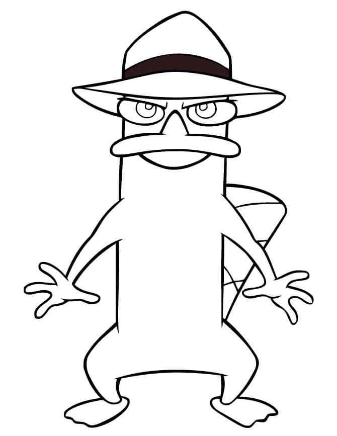 Desenhos de Perry Diversão para colorir