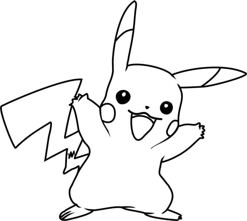 Desenhos de Pikachu Engraçado para colorir
