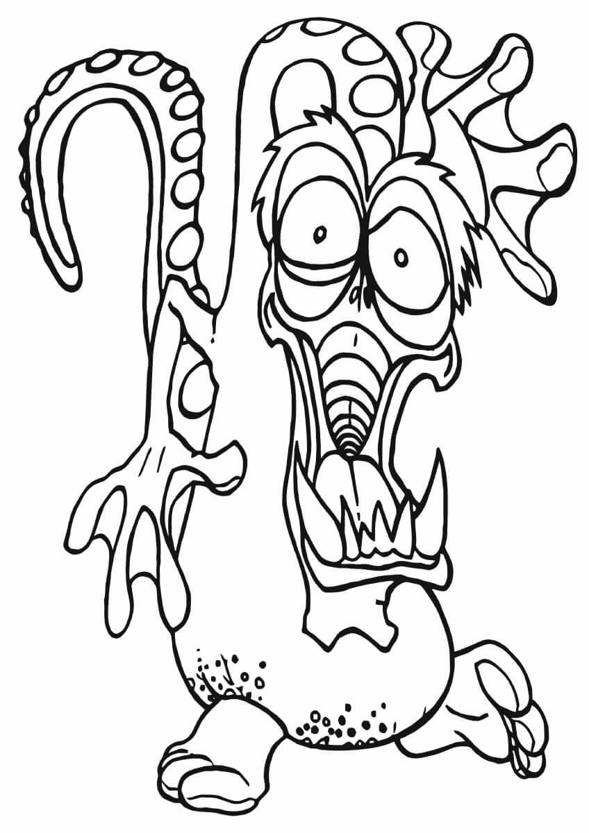 Desenhos de Polvo Assustador para colorir