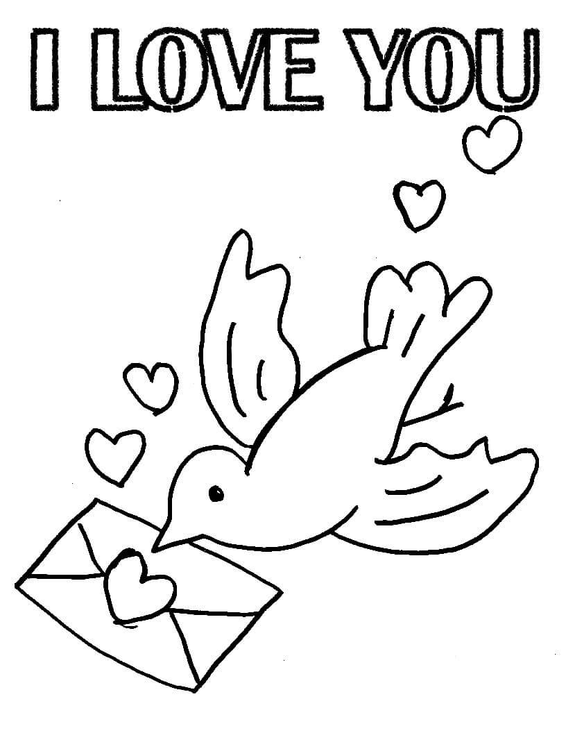 Desenhos de Pombo para Colorir