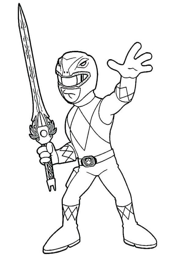 Power Ranger Com espada