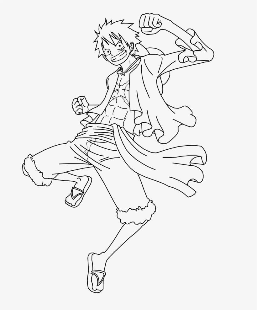 Desenhos de Pular Luffy para colorir