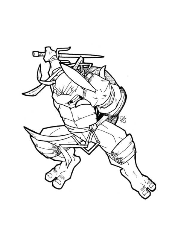 Desenhos de Rafael Dança Da Espada para colorir