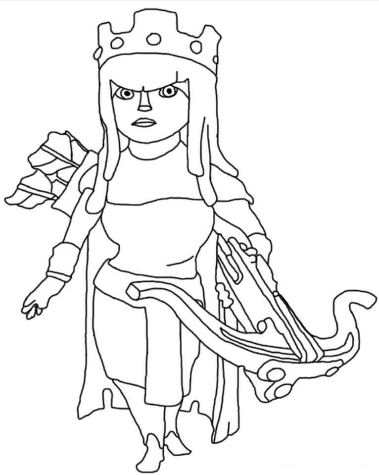 Desenhos de Rainha Arqueira para colorir