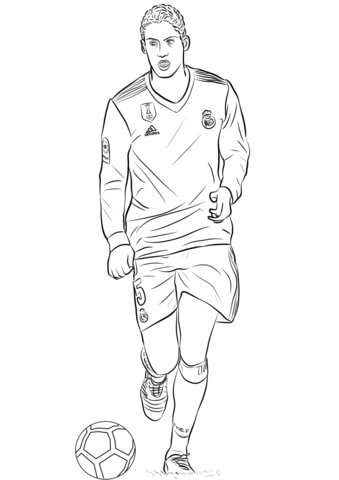 Raphaël Varane para Colorir