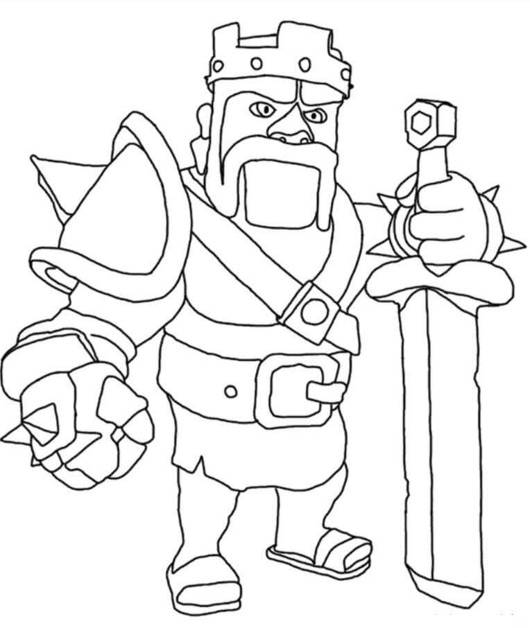 Desenhos de Rei Bárbaro para colorir