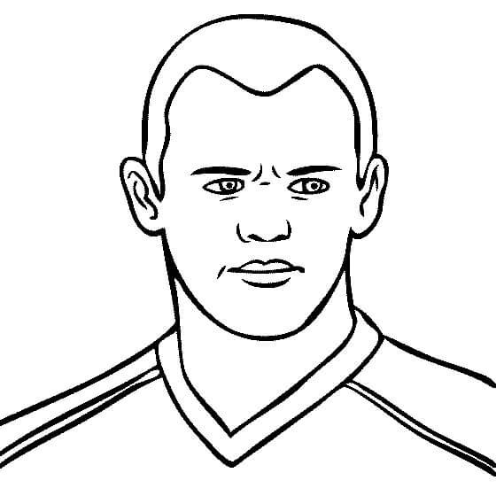 Desenhos de Rosto Wayne Rooney para colorir