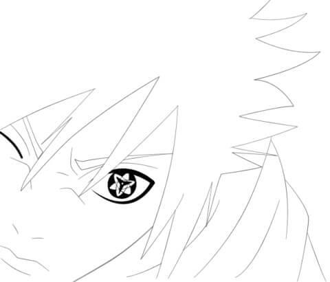 Desenhos de Sasuke Com Eternal Mangekyou Sharingan para colorir