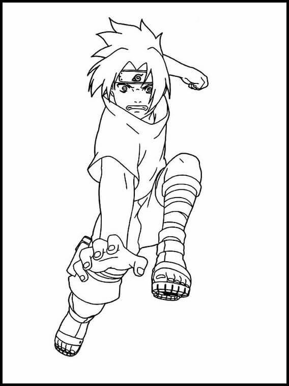 Desenhos de Sasuke Incomodado para colorir