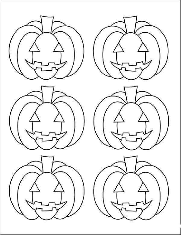 Desenhos de Seis Jack o 'Lantern para colorir