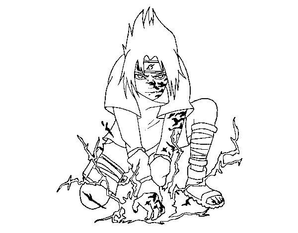 Desenhos de Selo Amaldiçoado De Sasuke E Orochimaru para colorir
