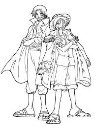 Desenhos de Shank E Luffy para colorir