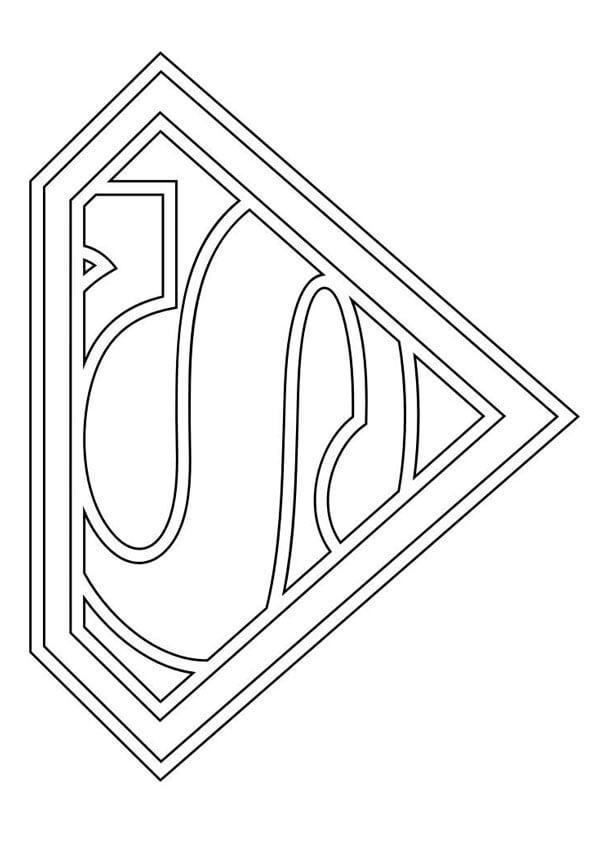 Desenhos de Símbolo Do Super Homen para colorir