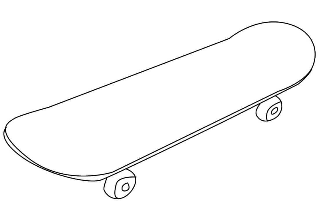 Desenhos de Skate para Colorir