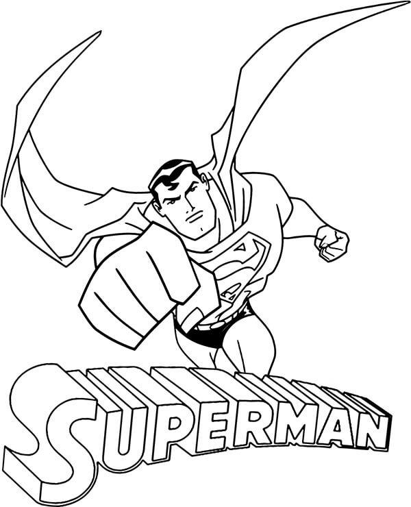 Desenhos de Soco De Super Homen para colorir