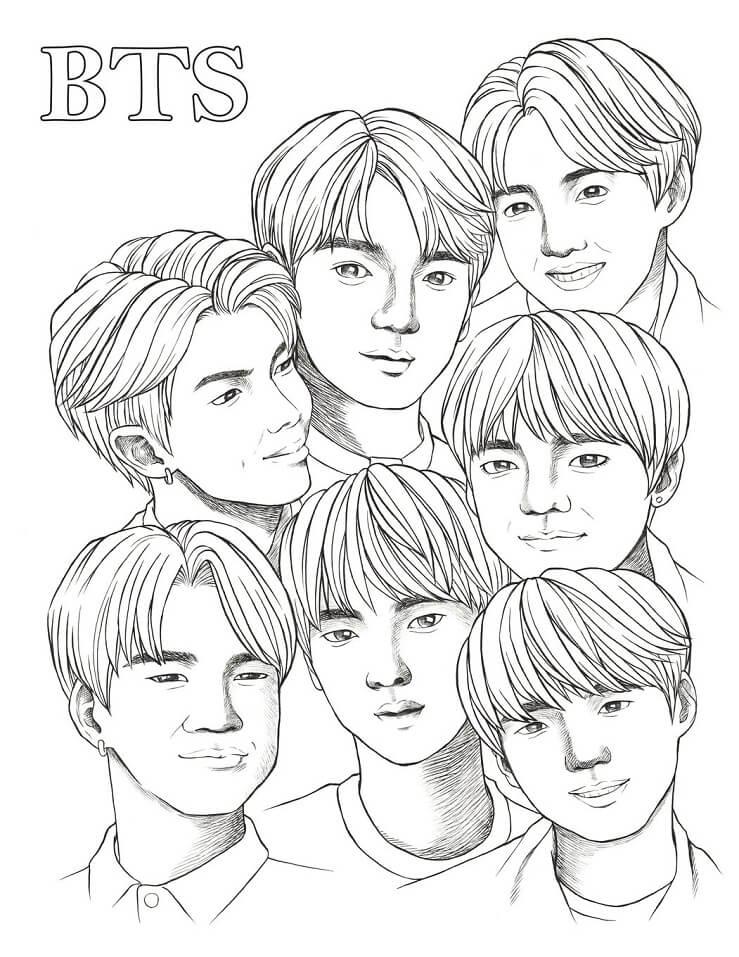Desenhos de BTS