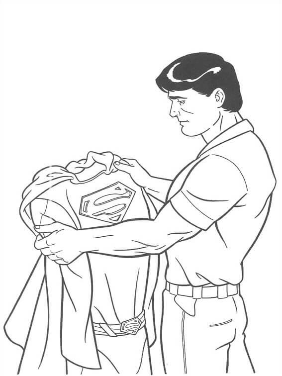 Desenhos de Super Homan E Suas Roupas para colorir