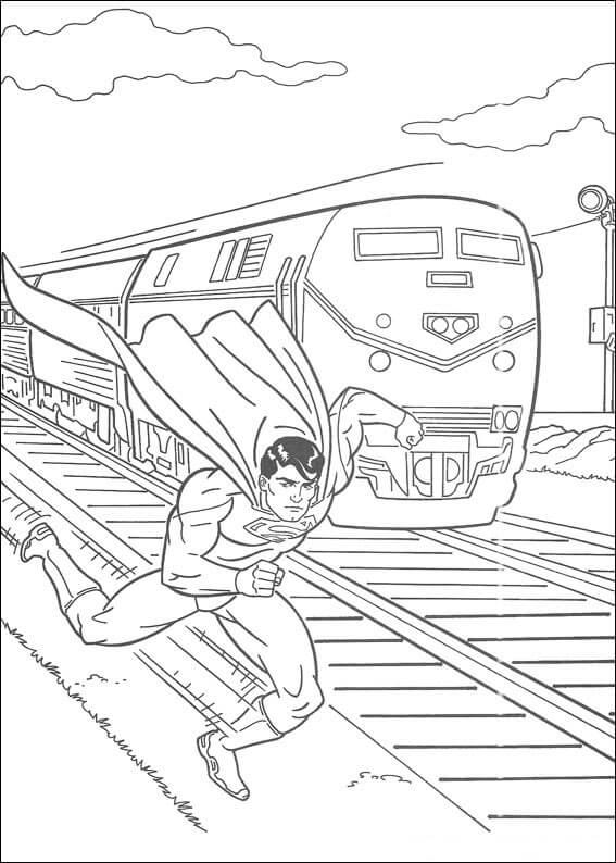 Desenhos de Super Homen Corrida para colorir