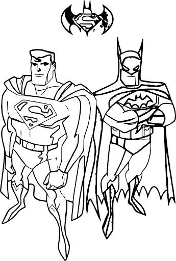 Desenhos de Super Homen E Homem Morcego para colorir