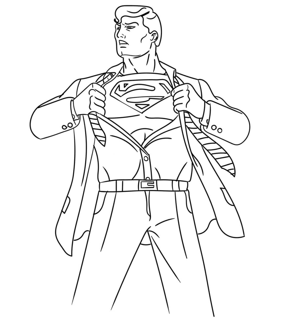 Desenhos de Super Homen Forte para colorir