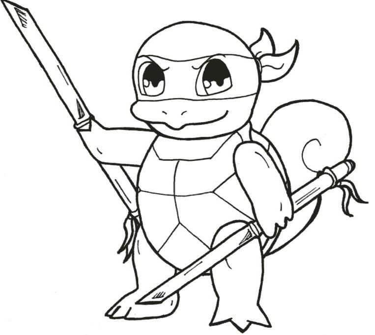 Desenhos de Tartaruga Ninja Bebé para colorir