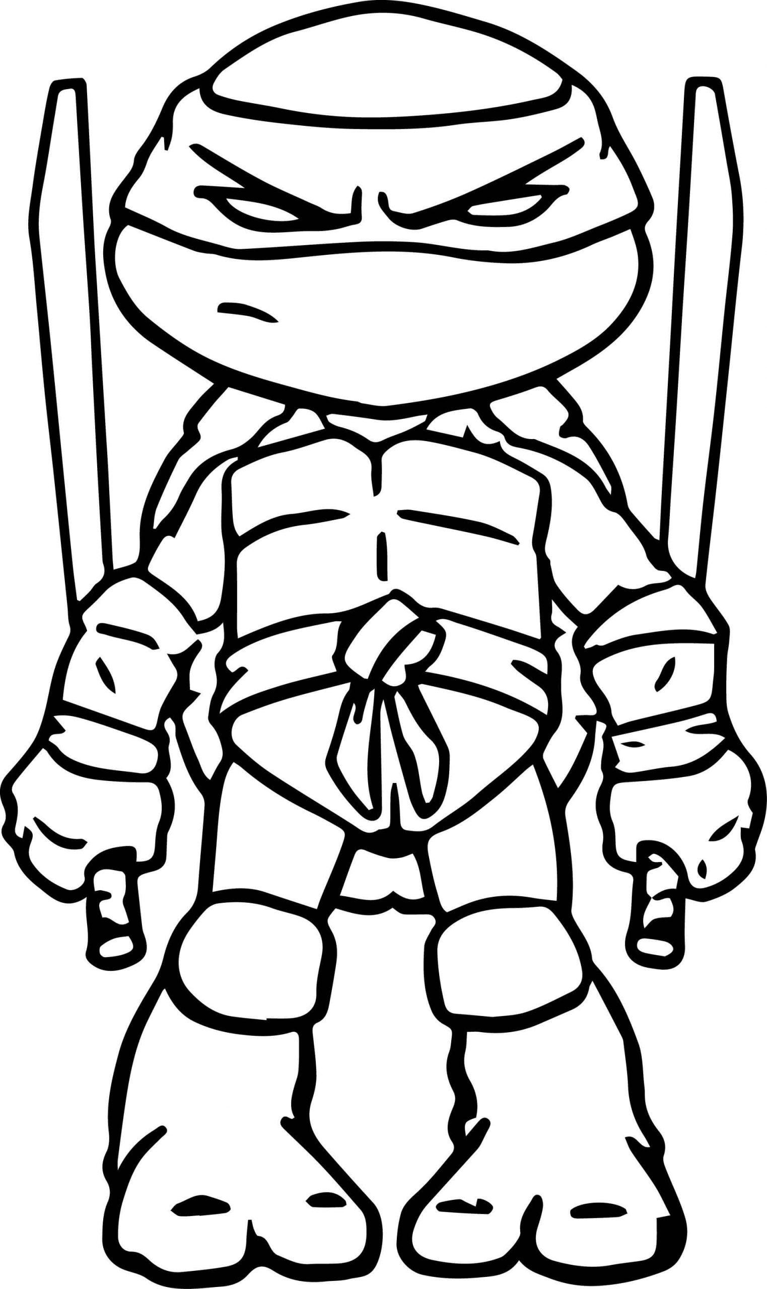 Desenhos de Tartarugas Ninja Zangadas para colorir