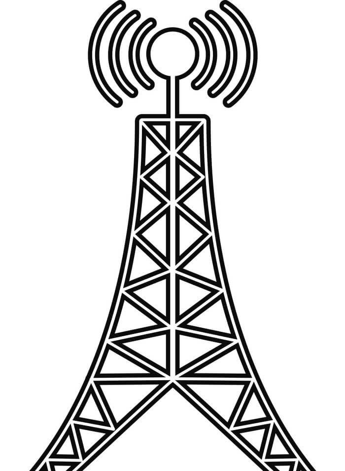 Desenhos de Torre Antena para colorir