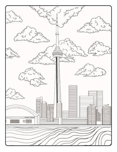 Desenhos de Torre De Toronto para colorir