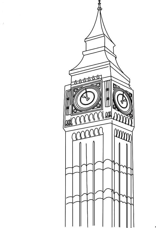Desenhos de Torre Do Relógio Big Ben para colorir